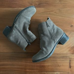 Browns waterproof ankle boots with zippers